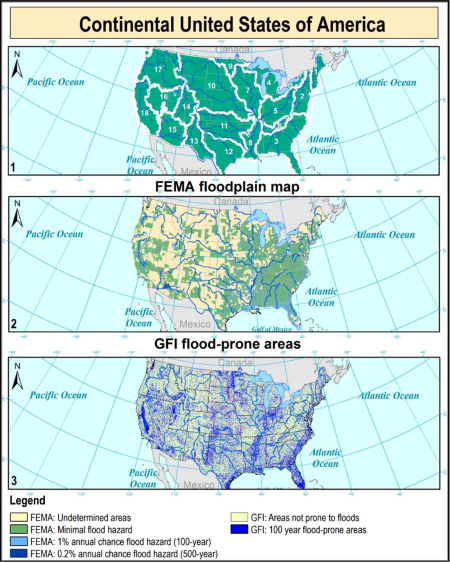 Dataset of 100-year geomorphic flood-prone areas for the continental U.S.