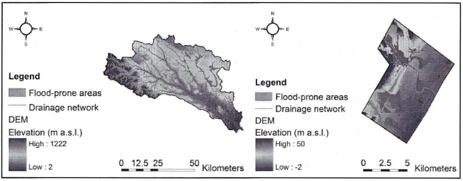 Stima delle aree inondabili mediante metodi geomorfologici e modellazione idraulica mono e bi-dimensionale: applicazione al Fiume Bradano