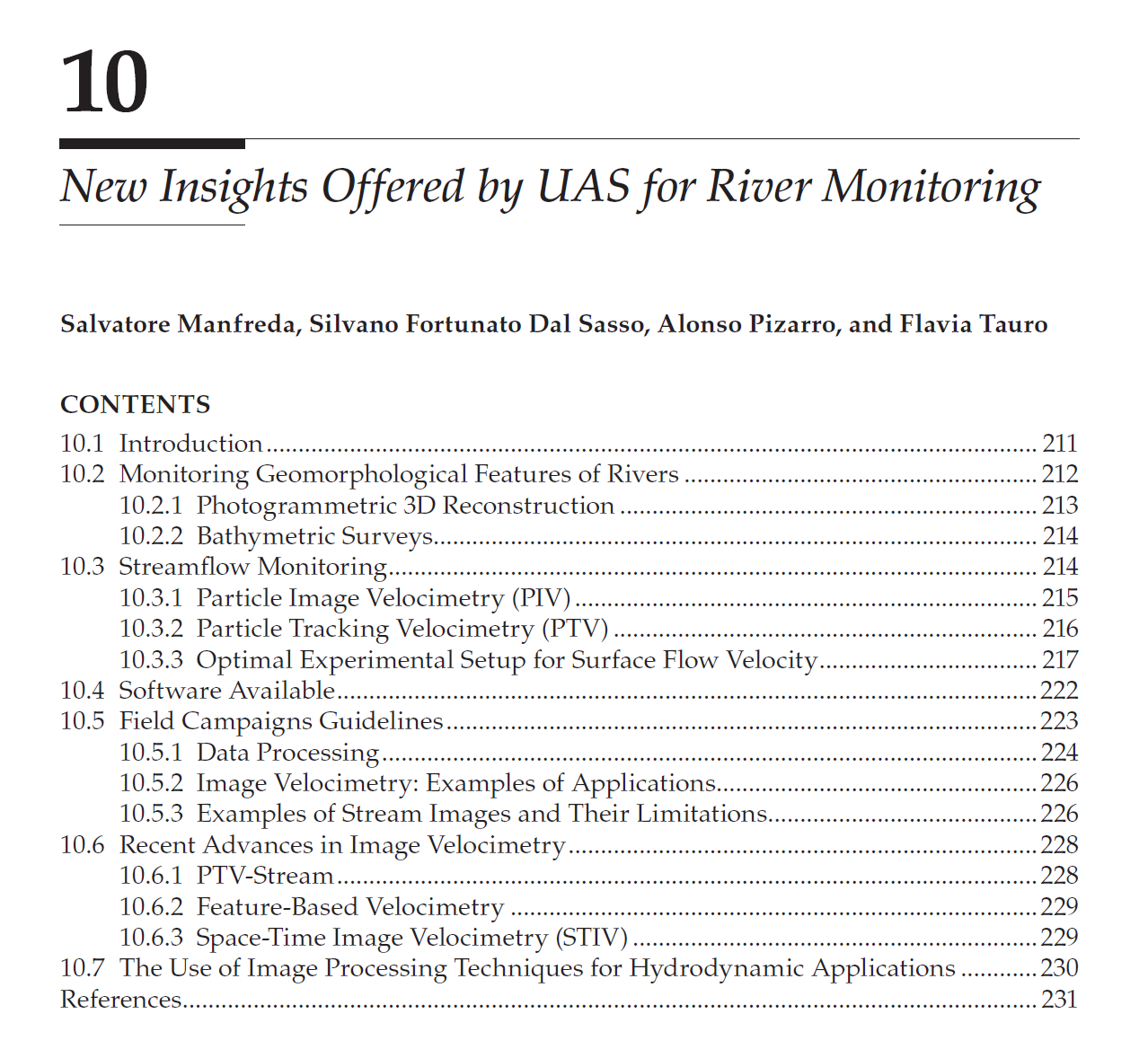 New Insights Offered by UAS for River Monitoring