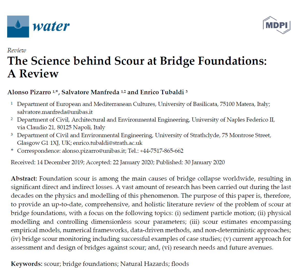 The Science behind Scour at Bridge Foundations: A Review