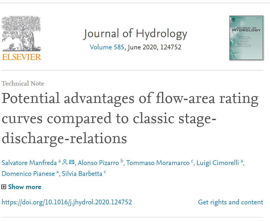Potential advantages of flow-area rating curves compared to classic stage-discharge-relations