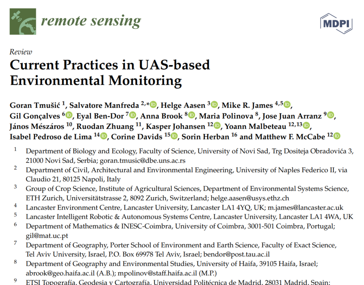 Current Practices in UAS-based Environmental Monitoring