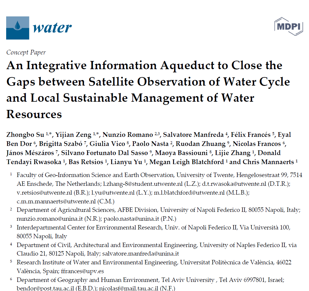 An Integrative Information Aqueduct to Close the Gaps between Satellite Observation of Water Cycle and Local Sustainable Management of Water Resources