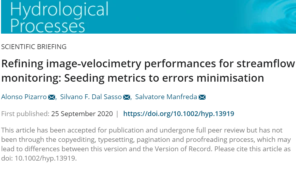 Refining image‐velocimetry performances for streamflow monitoring: Seeding metrics to errors minimisation