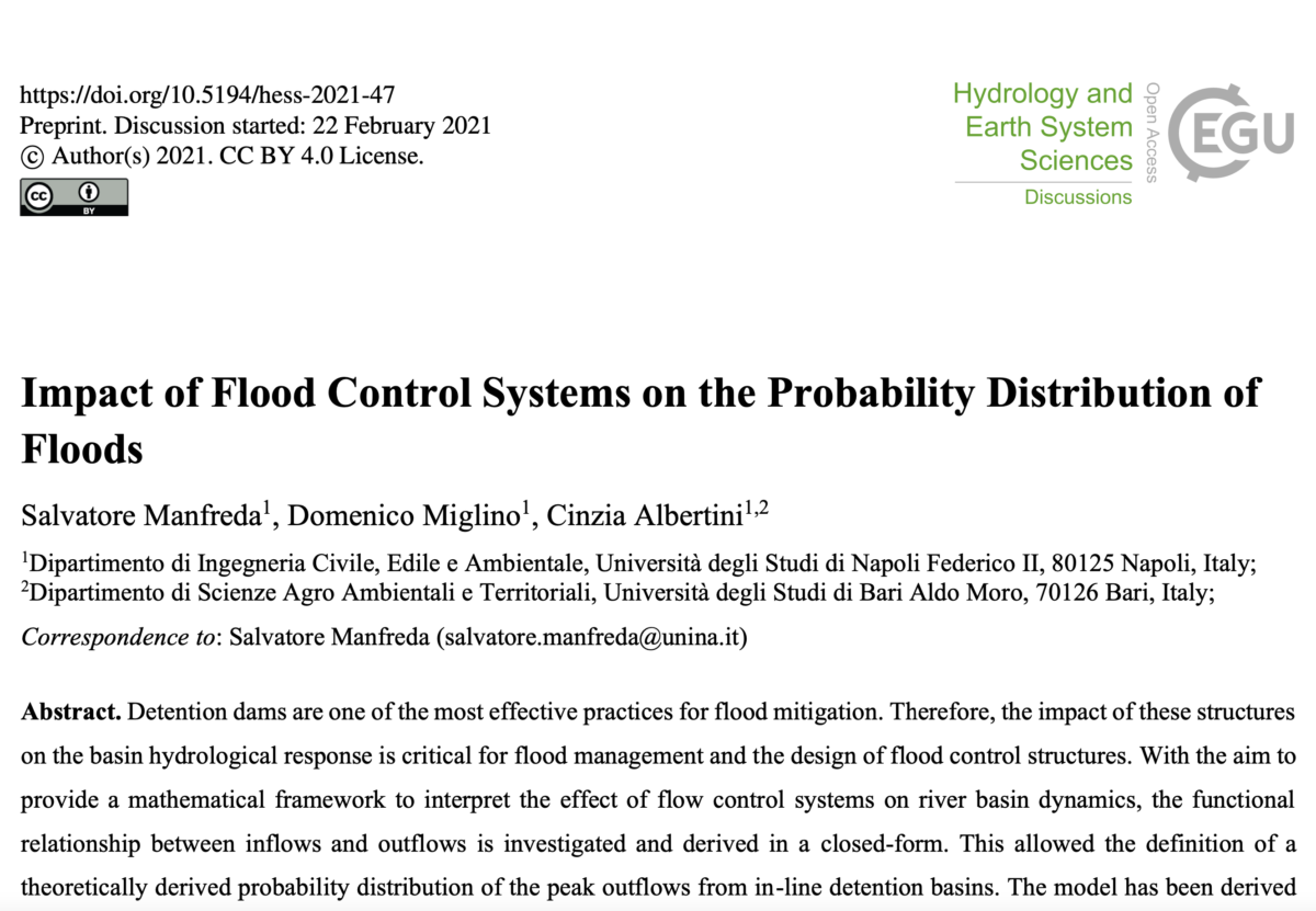 Impact of Flood Control Systems on the Probability Distribution of Floods