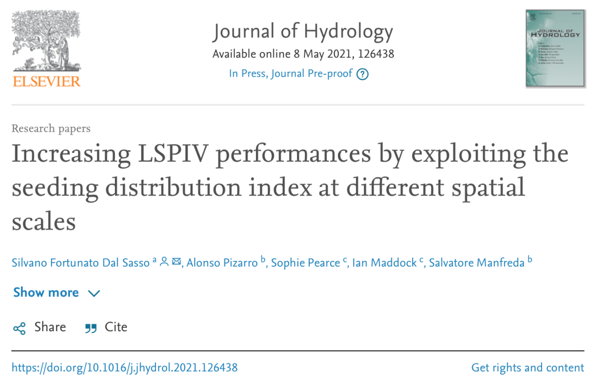 Increasing LSPIV performances by exploiting the seeding distribution index