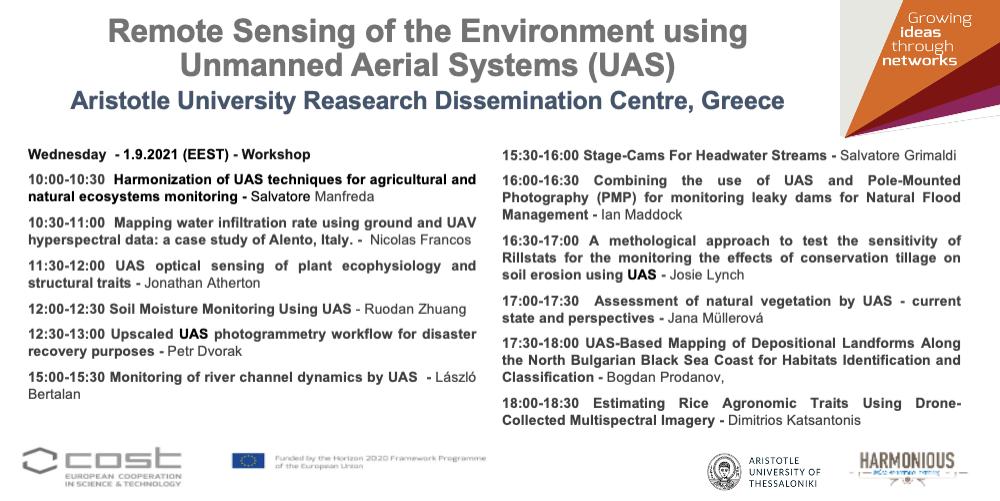 Remote Sensing of the Environment using UAS
