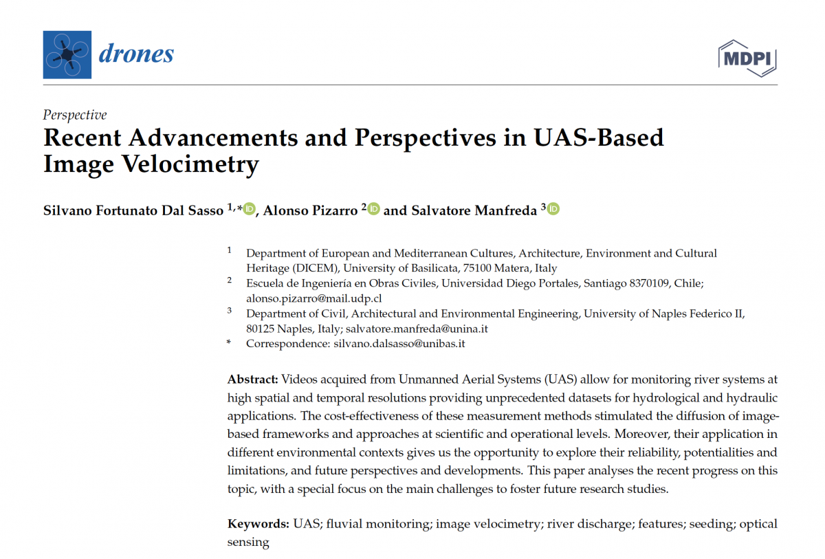 Recent Advancements and Perspectives in UAS-Based Image Velocimetry
