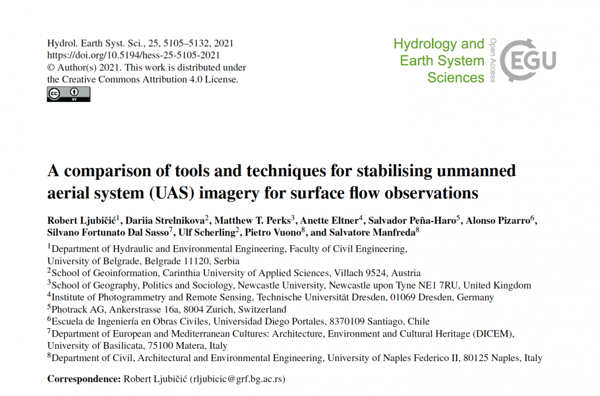 A comparison of tools and techniques for stabilising unmanned aerial system (UAS) imagery for surface flow observations